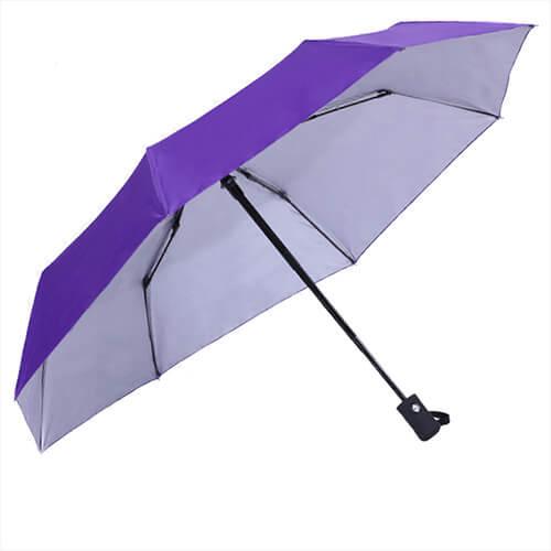 3 fold auto open and close silver umbrella
