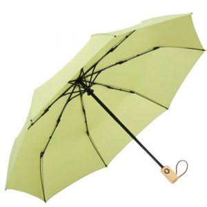 Auto open and auto close 3 folding umbrella with wooden handle