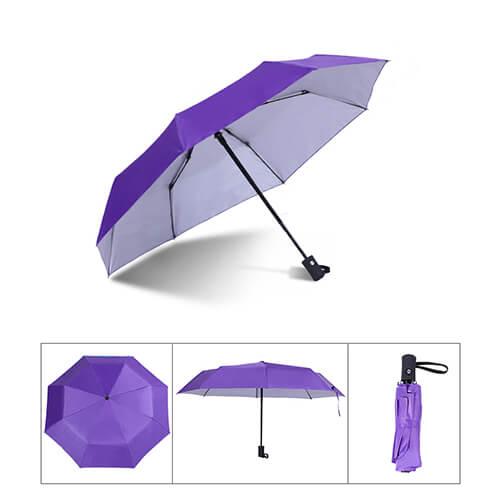 Auto open and close 3 fold silver umbrella