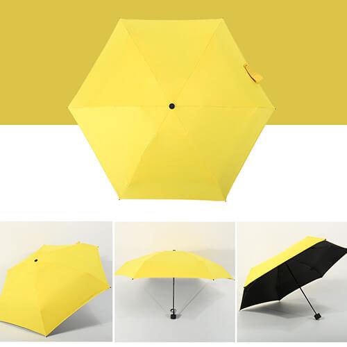 Five Folding Mini Umbrellas With UV Protect2