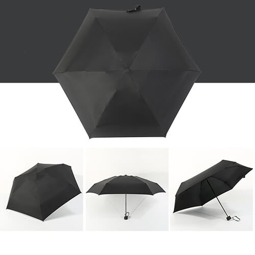 Five Folding Mini Umbrellas With UV Protect3
