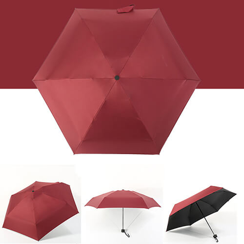 Five Folding Mini Umbrellas With UV Protect4
