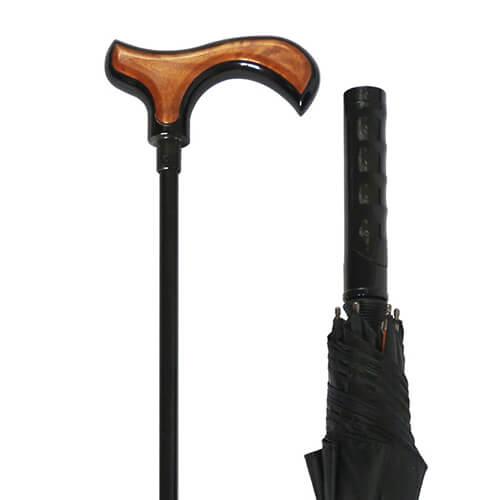 Functional Walking Stick Crutch Straight Umbrella 3