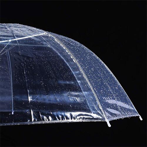 High quality automatic vinyl transparent wholesale clear umbrella