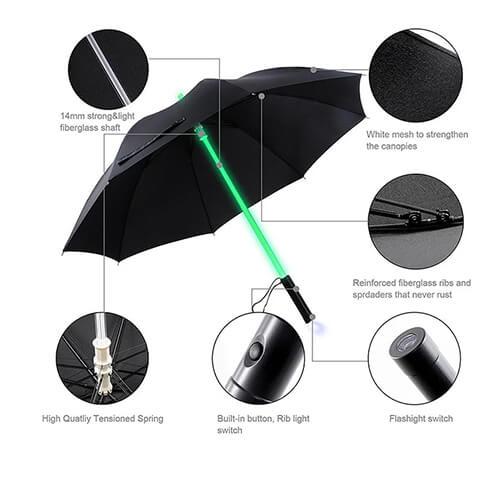 Hot Sale Promotional Customized LED Golf Umbrella2