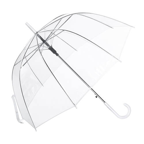 Hot selling high quality wholesale automatic vinyl transparent clear umbrella