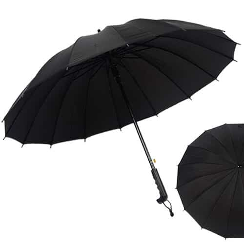 Multi-colour-Rainbow-Umbrella-Sun-Rain-Windproof-With-Straight-Handle-Black