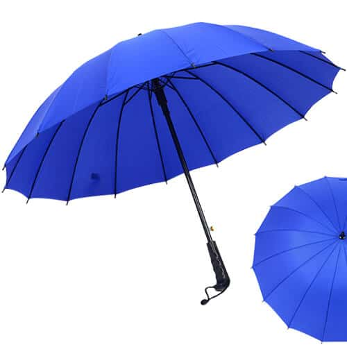 Multi-colour-Rainbow-Umbrella-Sun-Rain-Windproof-With-Straight-Handle-Blue