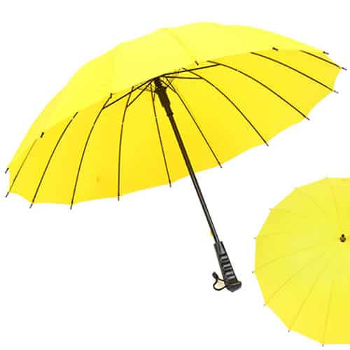 Multi-colour-Rainbow-Umbrella-Sun-Rain-Windproof-With-Straight-Handle-Yellow