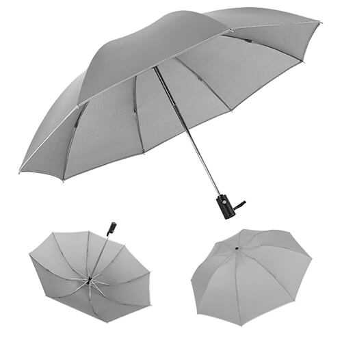 Reverse Folding Umbrella With Automatic Open Close White