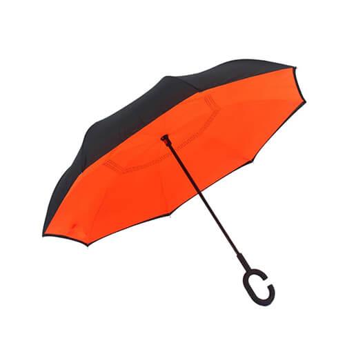 Solid Color Free Hands Reverse Umbrella