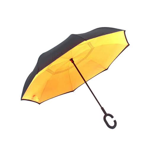 Solid Color Free Hands Reverse Umbrella 1