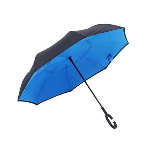 Solid Color Free Hands Reverse Umbrella 2