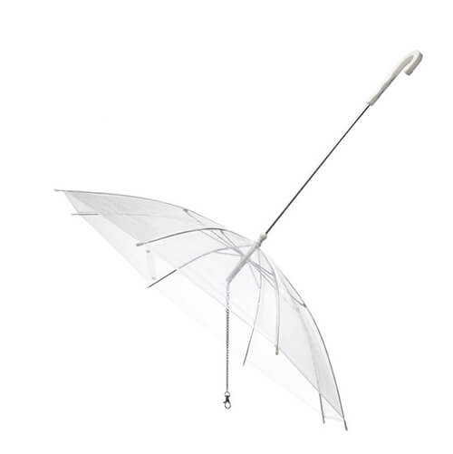 Special Design POE Windproof Clear Dog Umbrella For Pets6