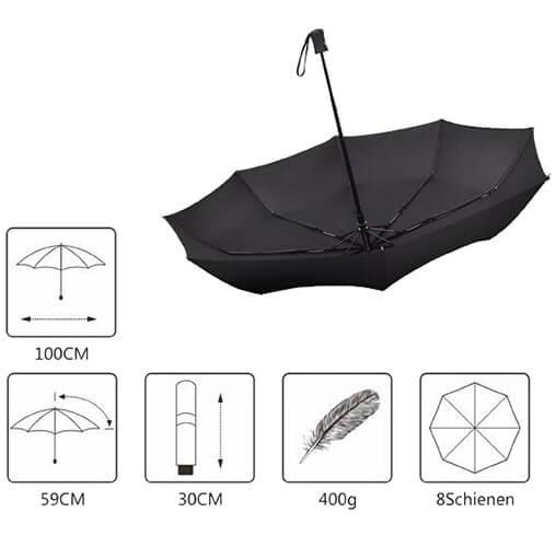 Umbrella Automatic Open Close Rain Repellent Fabric 4