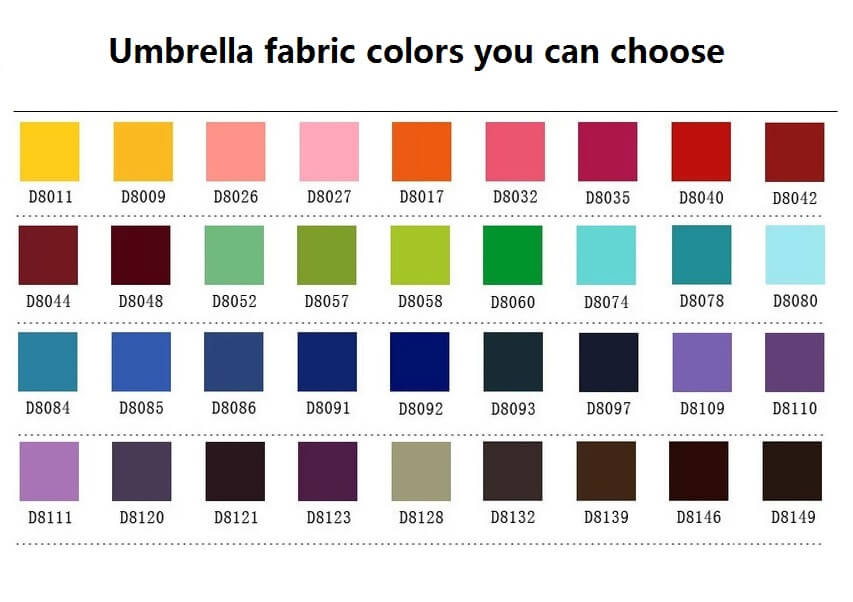 Umbrella-fabric-color