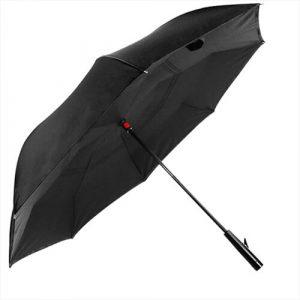 inverted umbrella with flashlight