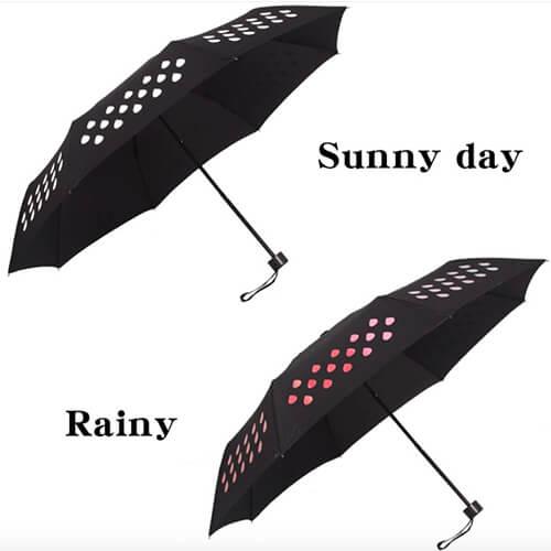 _magic umbrella change color when wet umbrella